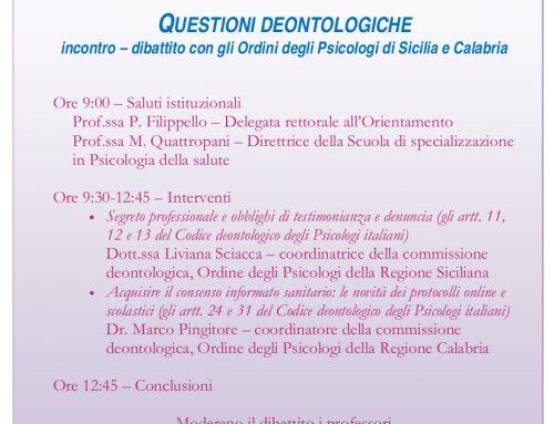 [Webinar] Questioni deontologiche – Università degli Studi di Messina